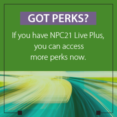 Got Perks? If you have NPC21 Live Plus, you can access more perks now.