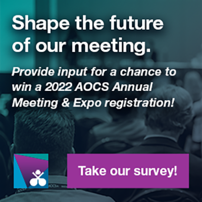 Take our survey to provide input on next year's meeting and get a chance to win a 2022 AOCS Annual M